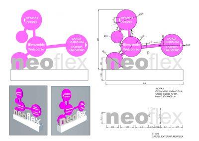 CARTEL EXTERIOR NEOFLEX